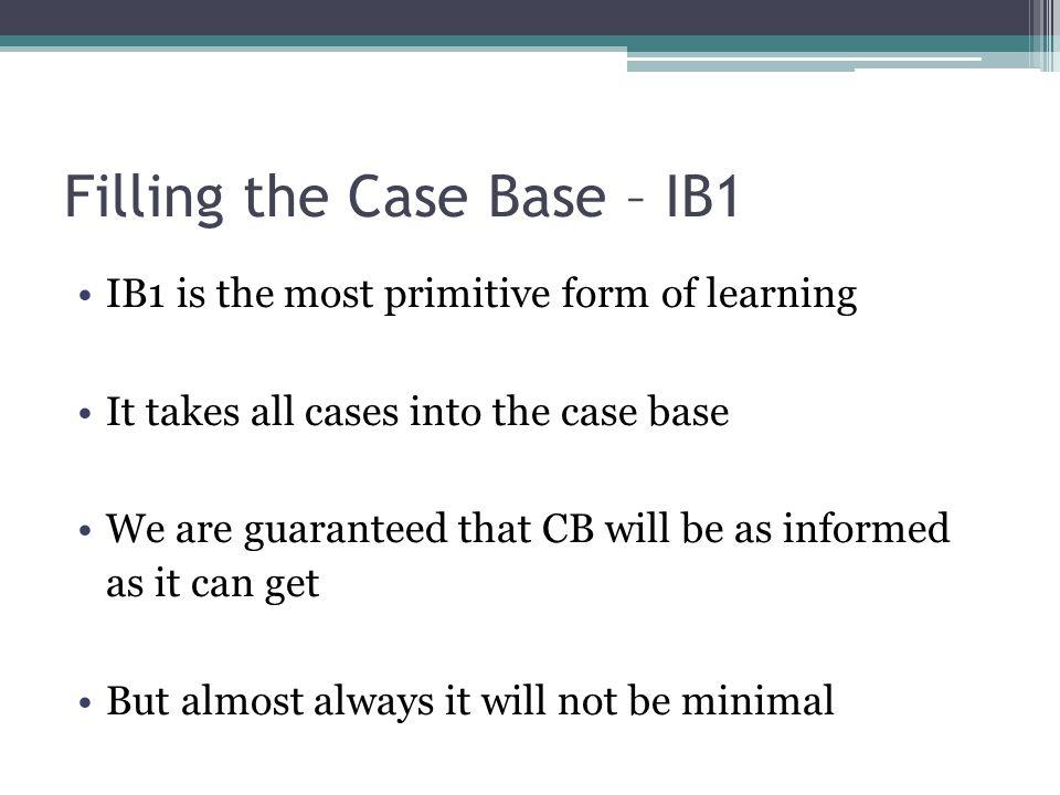 Filling the Case Base – IB1