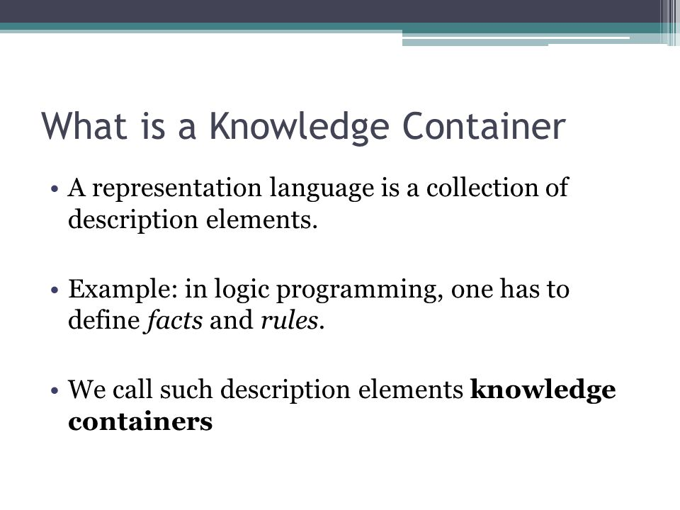 What is a Knowledge Container