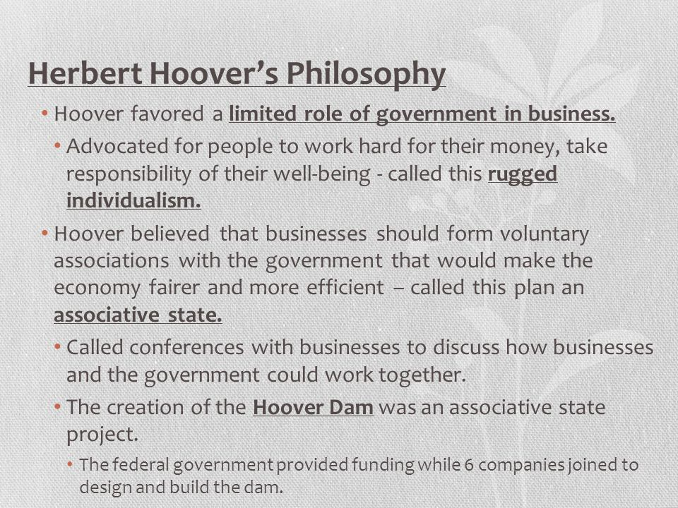 Herbert Hoover's Philosophy