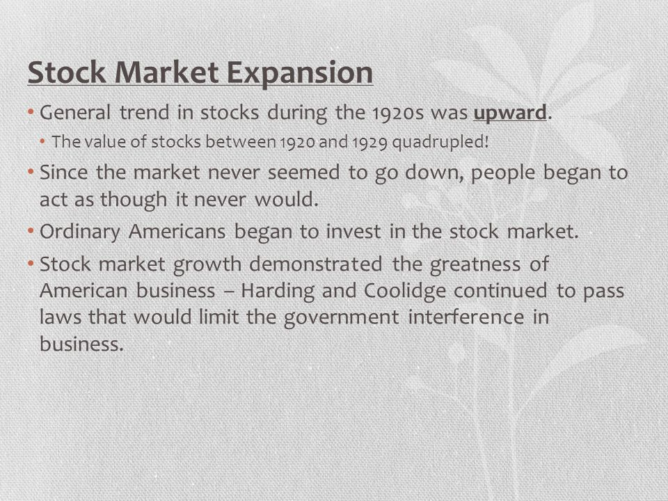 Stock Market Expansion