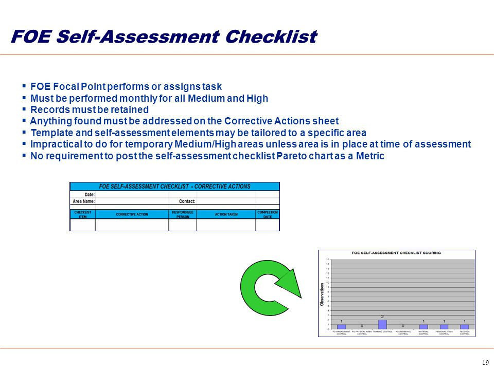 FOE Self-Assessment Checklist