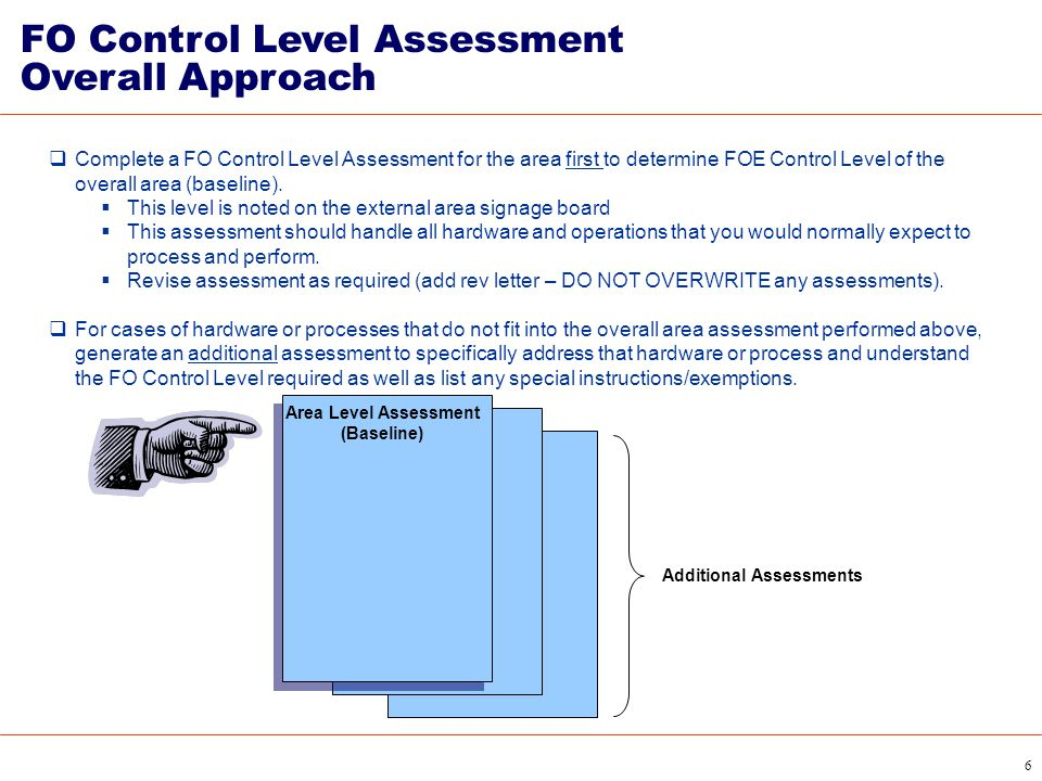 FO Control Level Assessment Overall Approach