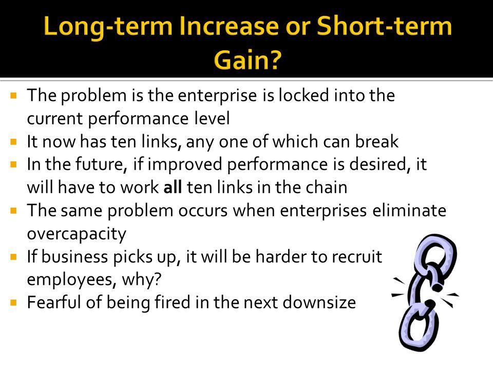 Long-term Increase or Short-term Gain