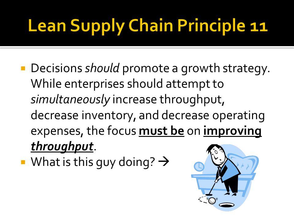 Lean Supply Chain Principle 11