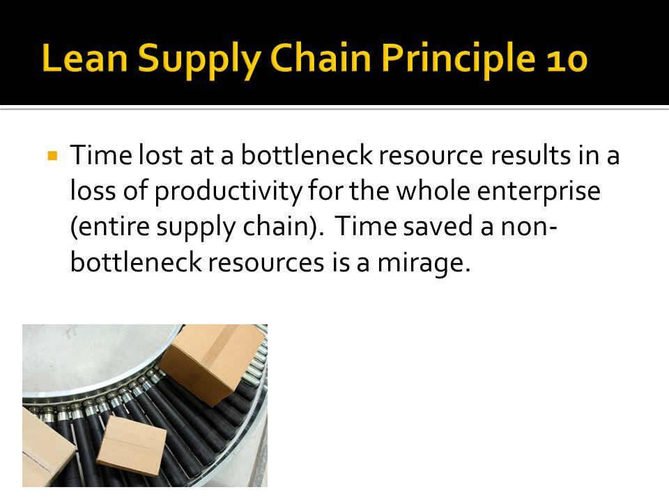 Lean Supply Chain Principle 10