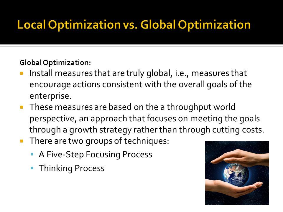 Local Optimization vs. Global Optimization