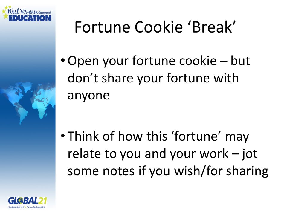 Fortune Cookie 'Break'