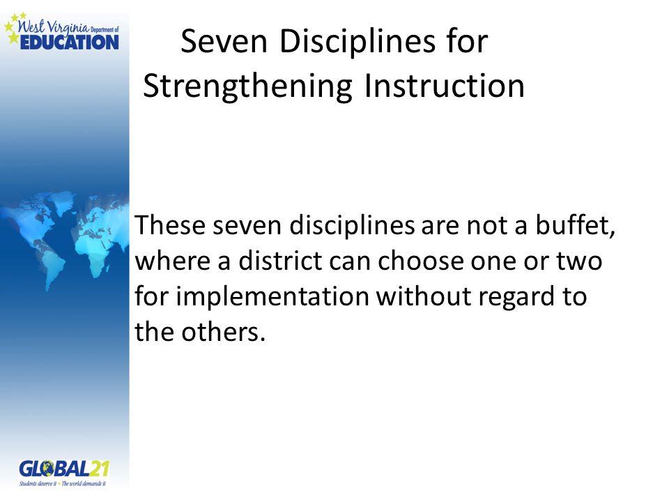 Seven Disciplines for Strengthening Instruction