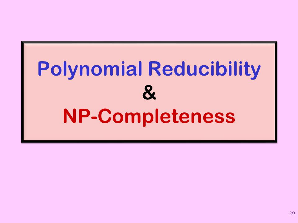 Polynomial Reducibility & NP-Completeness