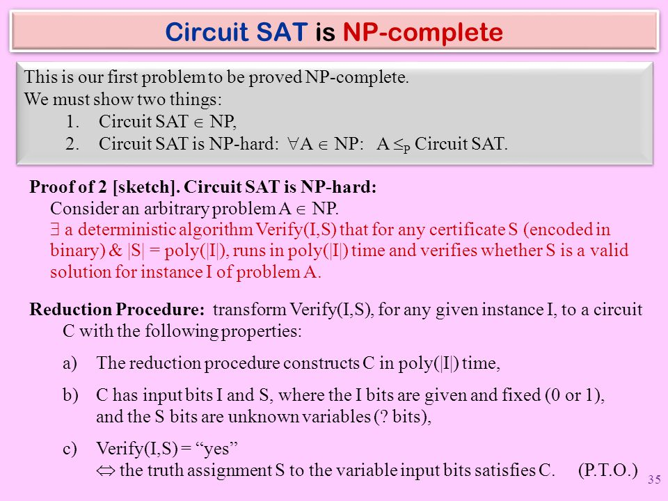 Circuit SAT is NP-complete