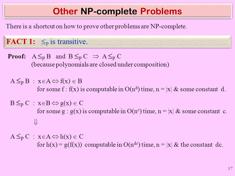 Other NP-complete Problems
