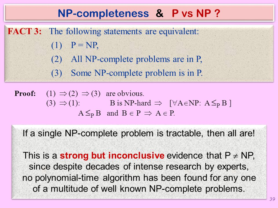 NP-completeness & P vs NP