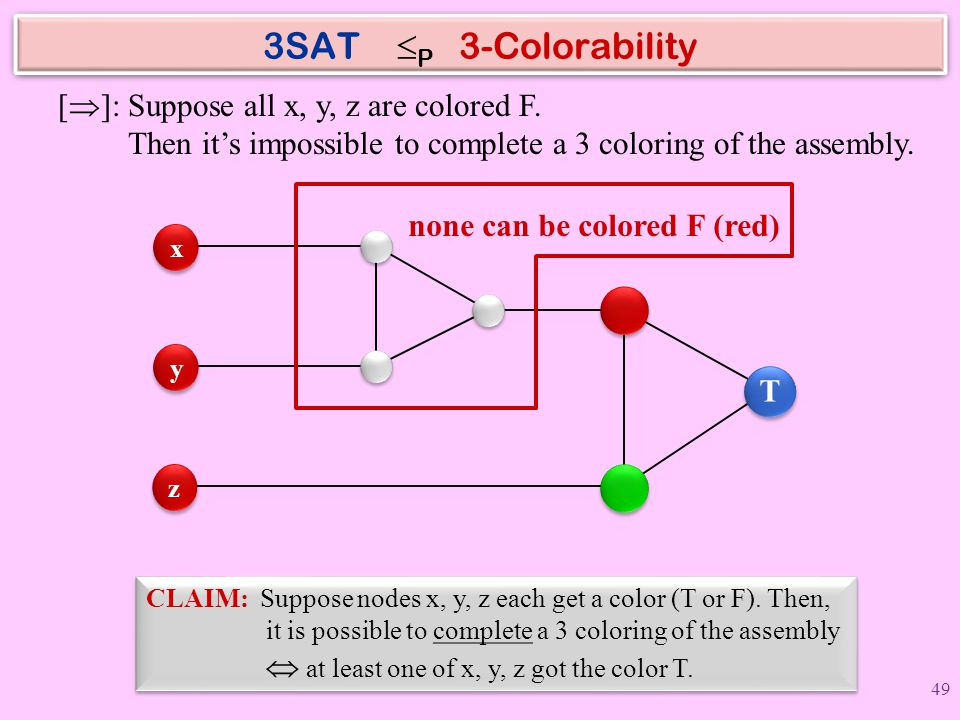 none can be colored F (red)