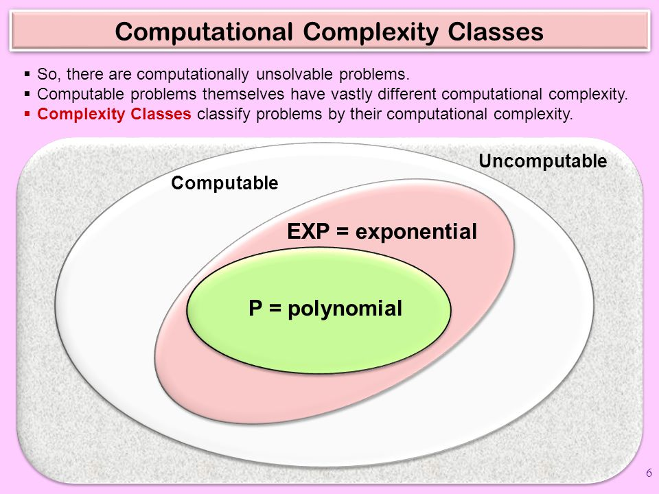 Computational Complexity Classes