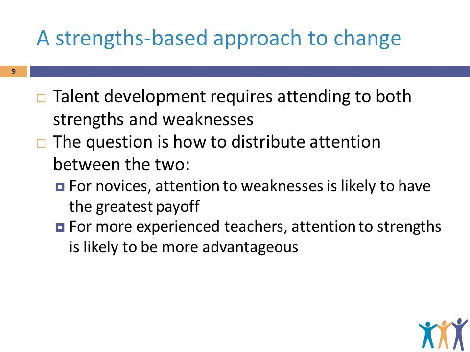 A strengths-based approach to change