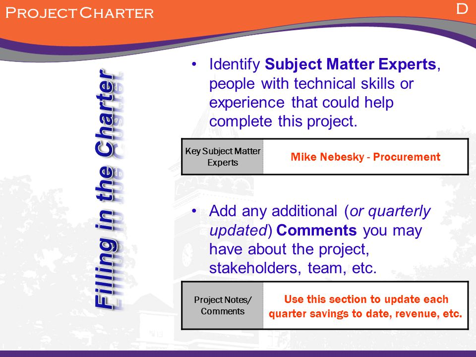 Stakeholders and Experts