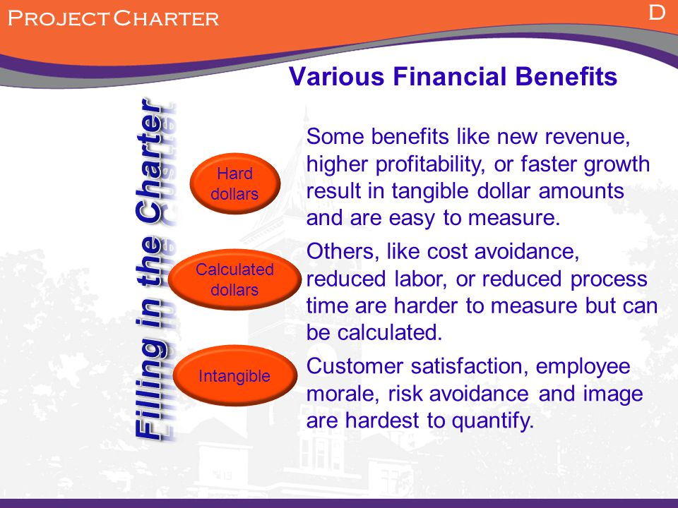 Kinds of financial benefits
