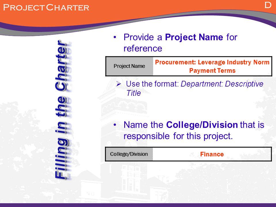 Procurement: Leverage Industry Norm Payment Terms