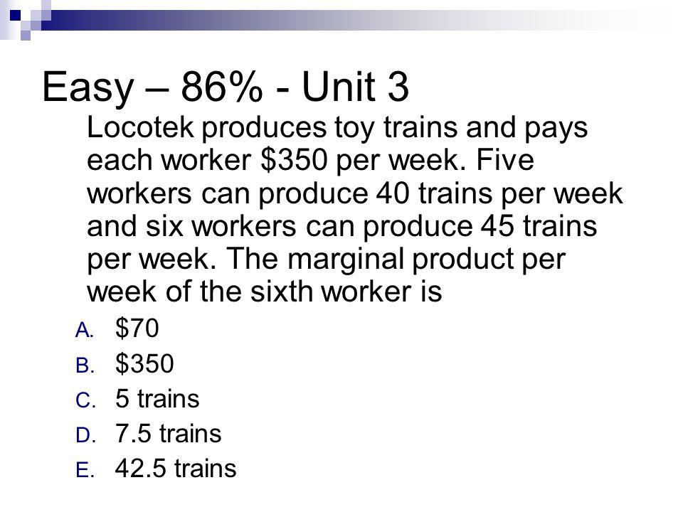 Easy – 86% - Unit 3