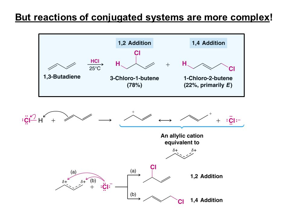 But reactions of conjugated systems are more complex!