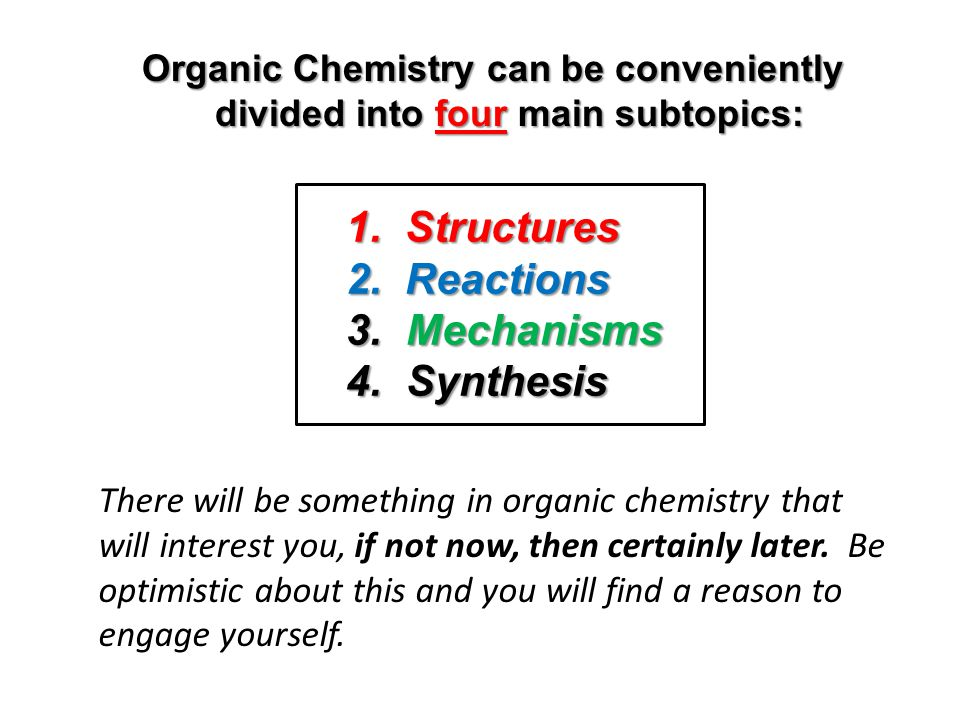 1. Structures 2. Reactions Mechanisms Synthesis