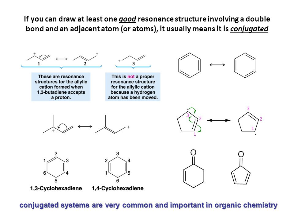 conjugated systems are very common and important in organic chemistry