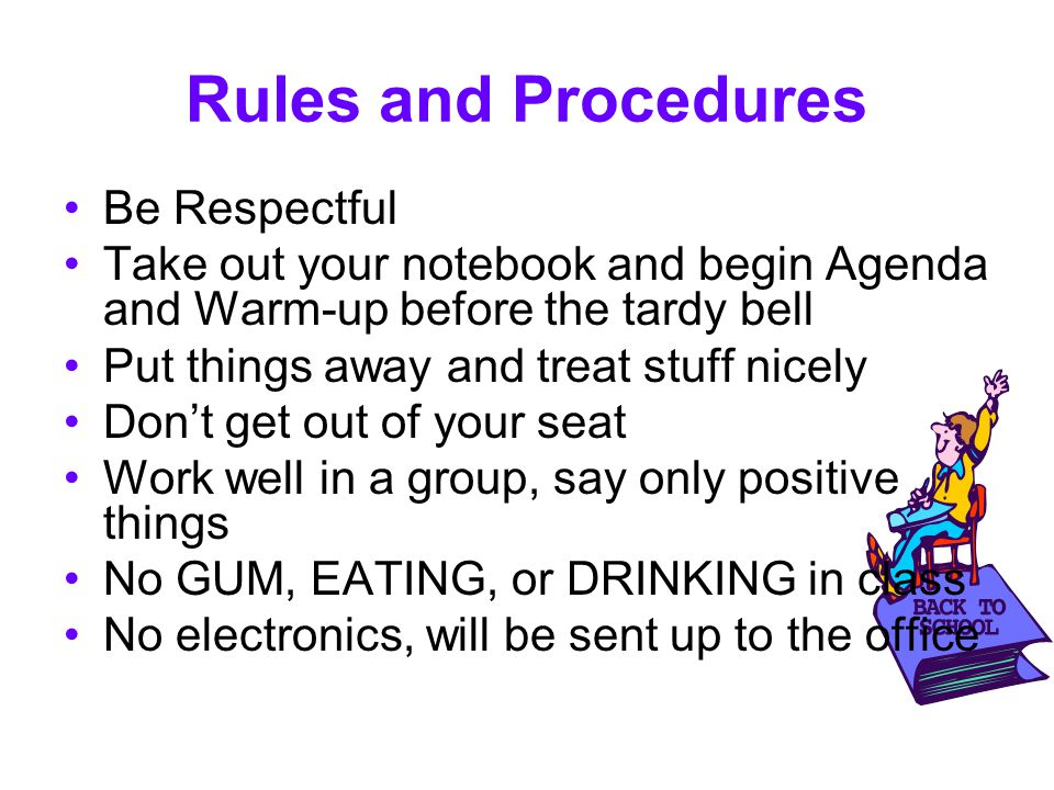 Rules and Procedures Be Respectful