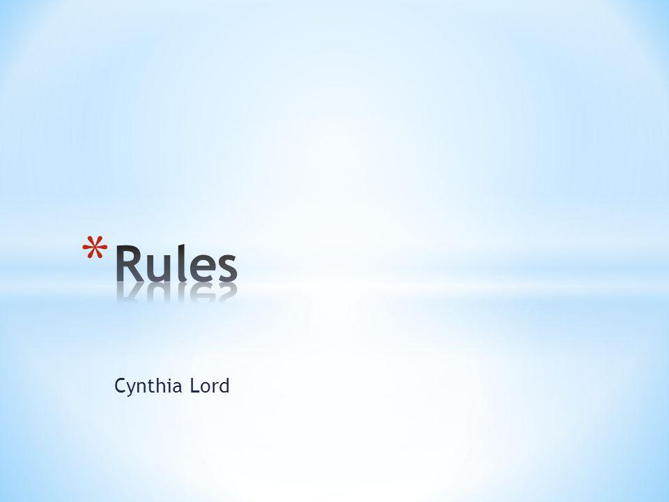 Rules Cynthia Lord