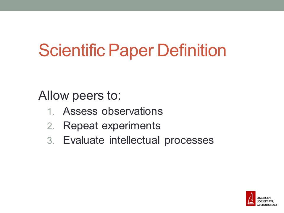 Scientific Paper Definition