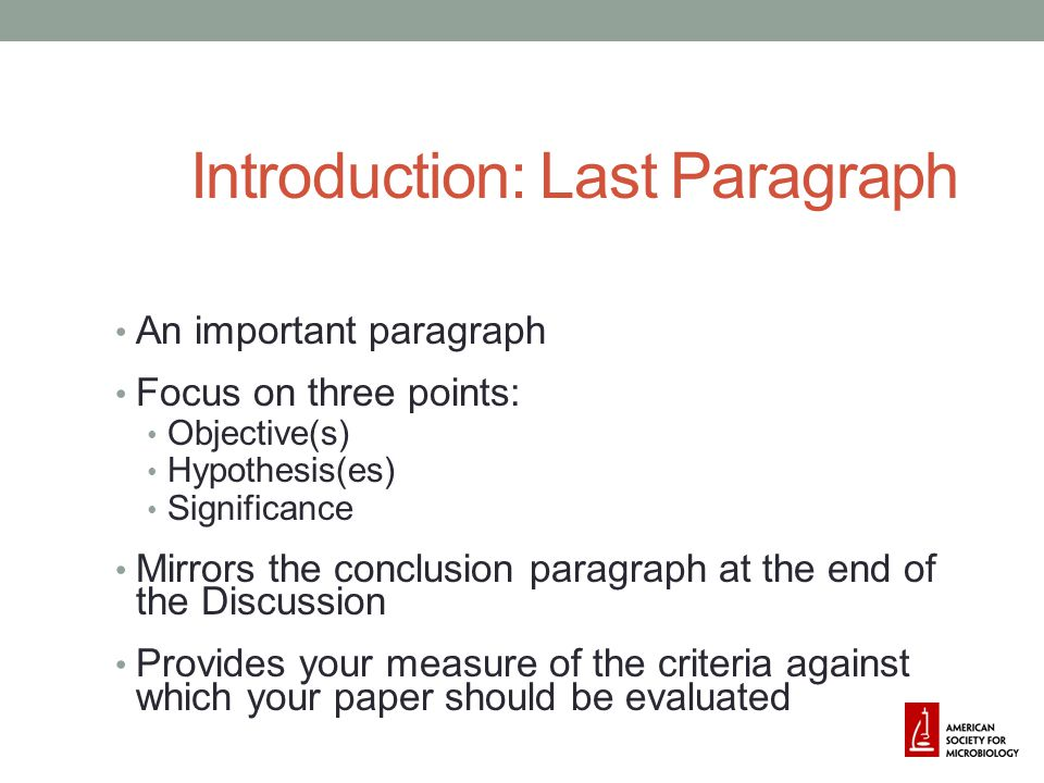 Introduction: Last Paragraph