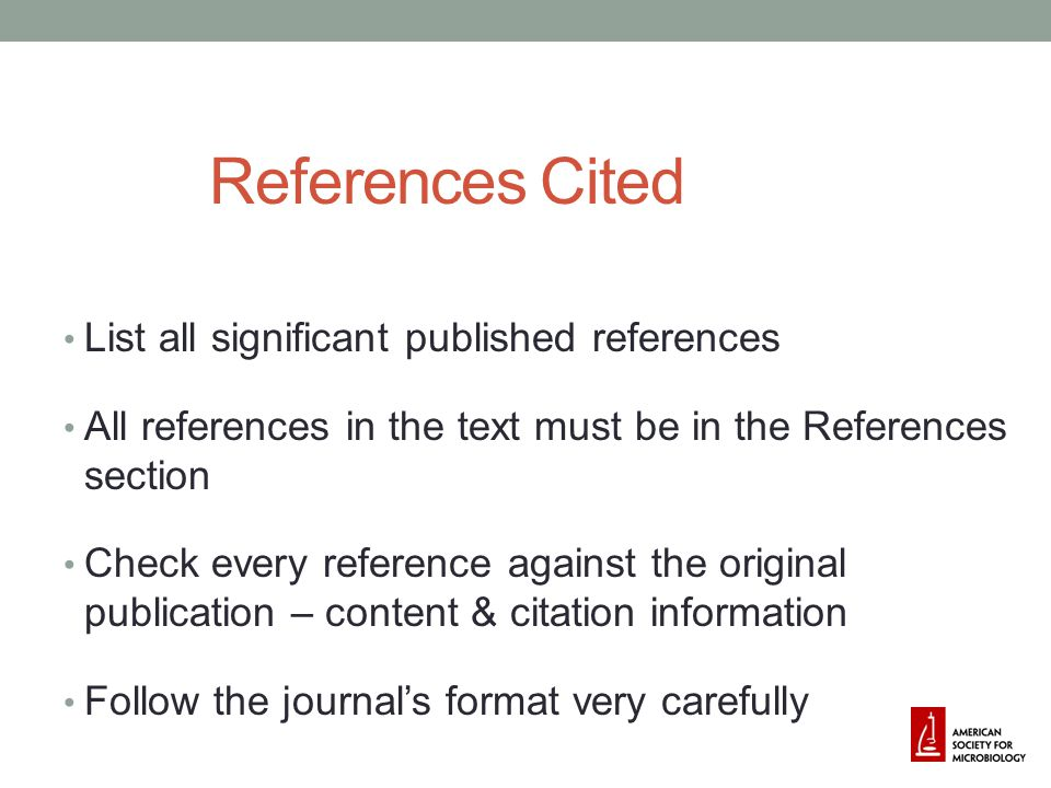 References Cited List all significant published references