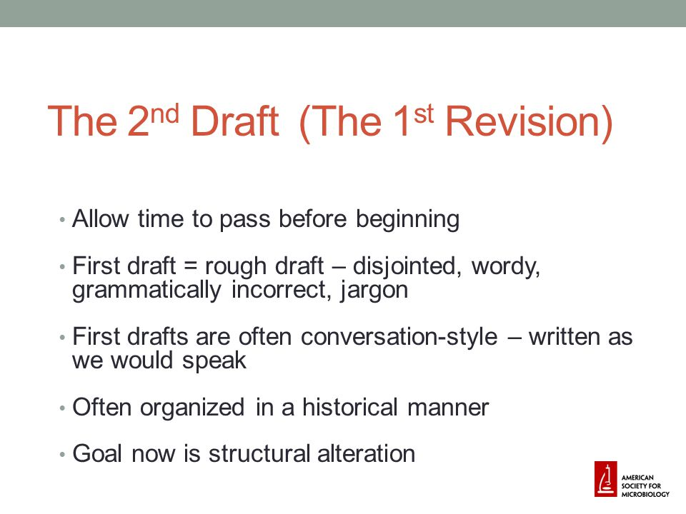 The 2nd Draft (The 1st Revision)
