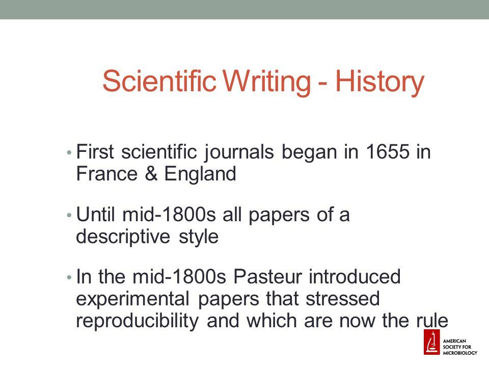 Scientific Writing - History