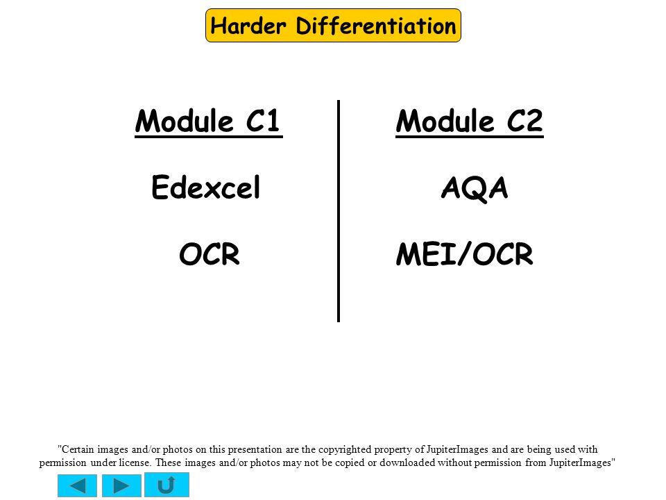 Module C1 Module C2 Edexcel AQA OCR MEI/OCR