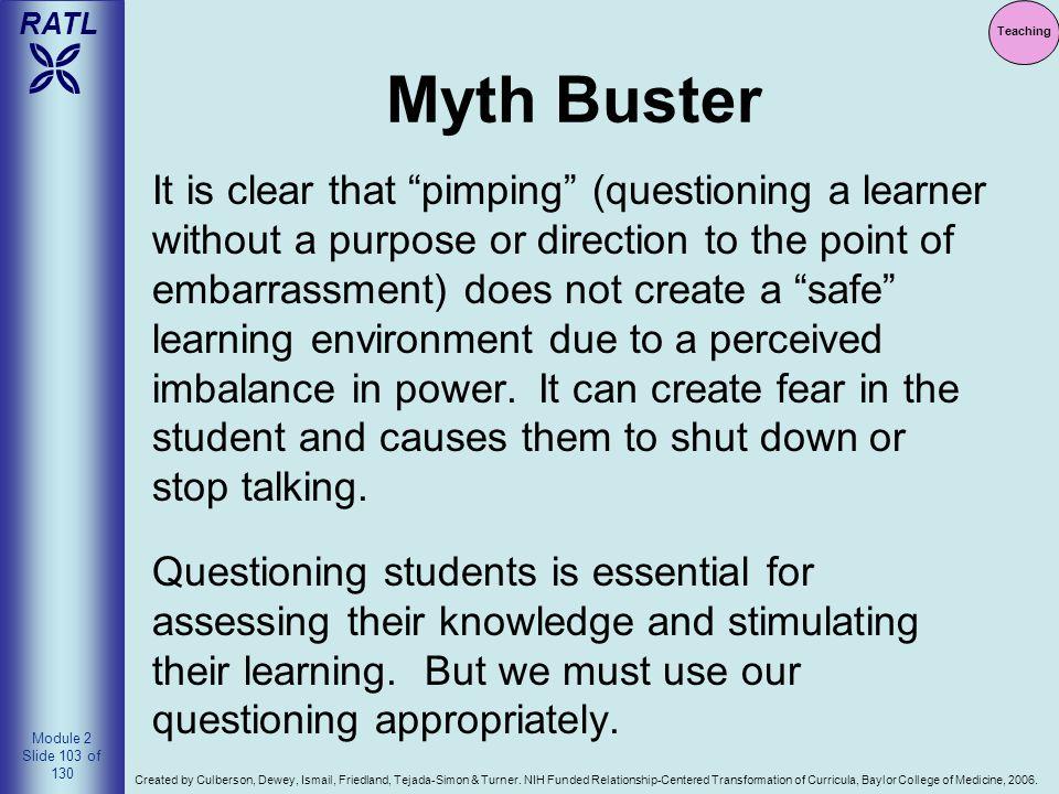 Teaching Myth Buster.