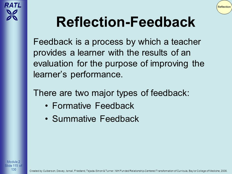 Reflection Reflection-Feedback.