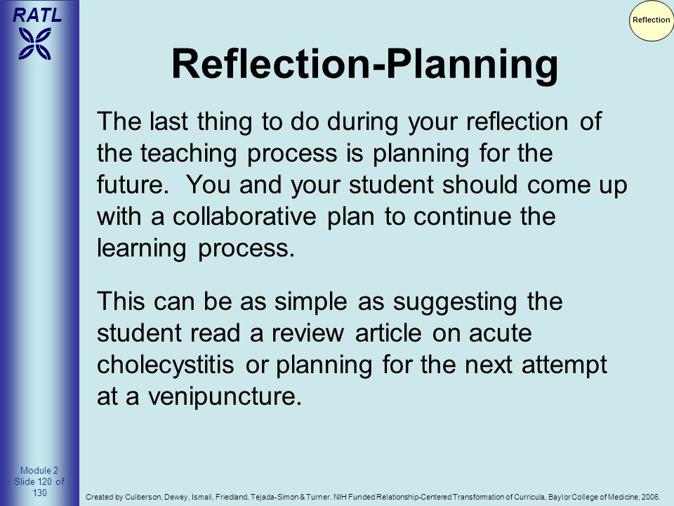 Reflection Reflection-Planning.