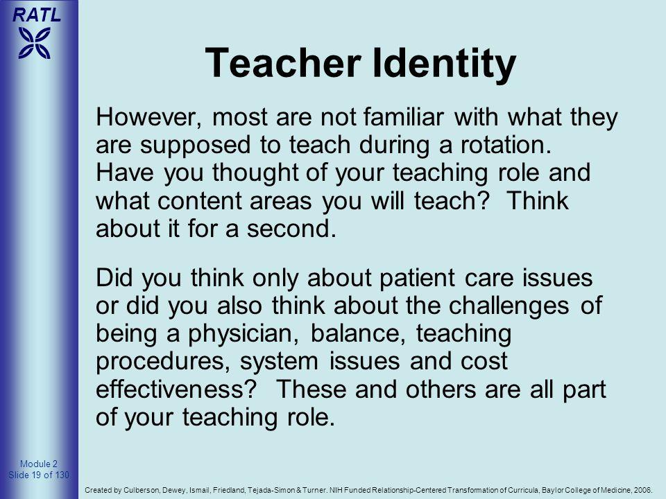 Teacher Identity