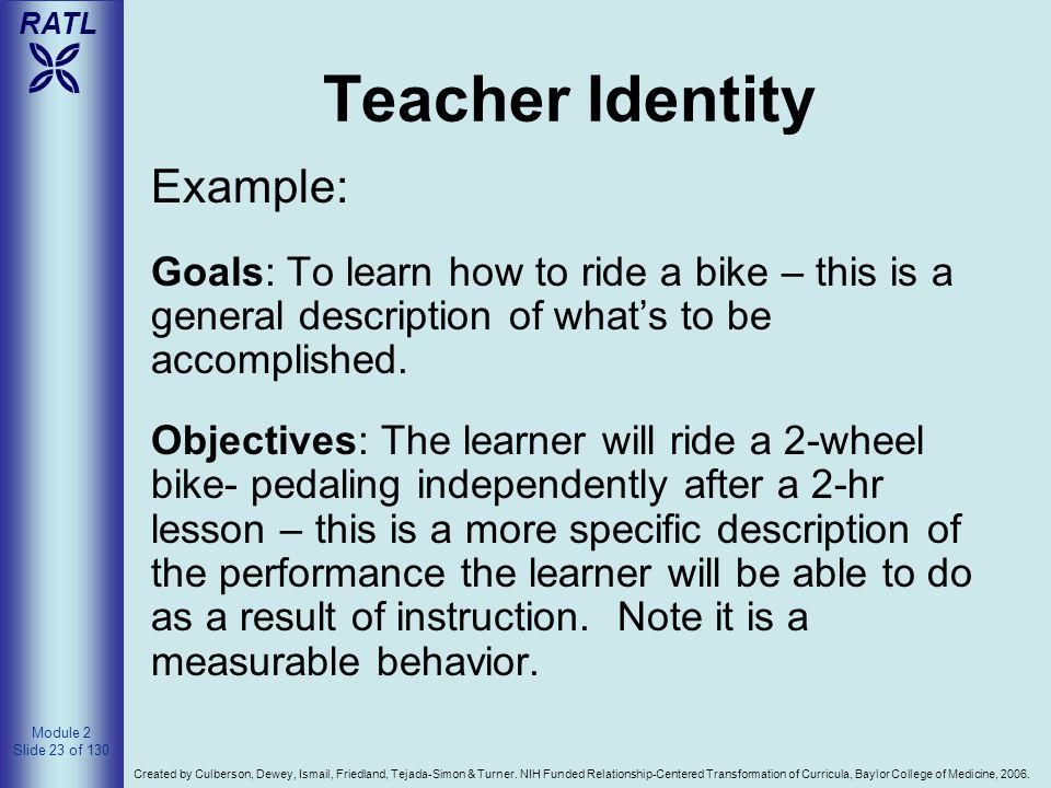 Teacher Identity Example: