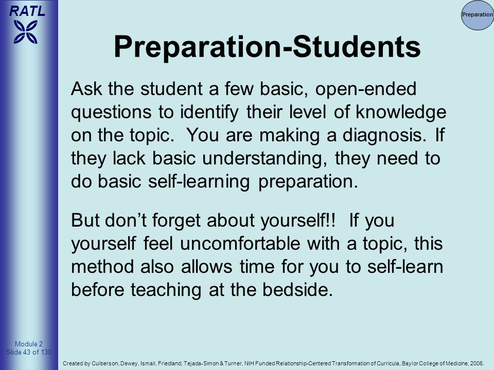 Preparation-Students