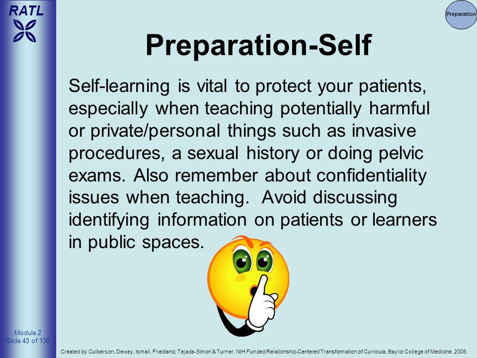 Preparation Preparation-Self.