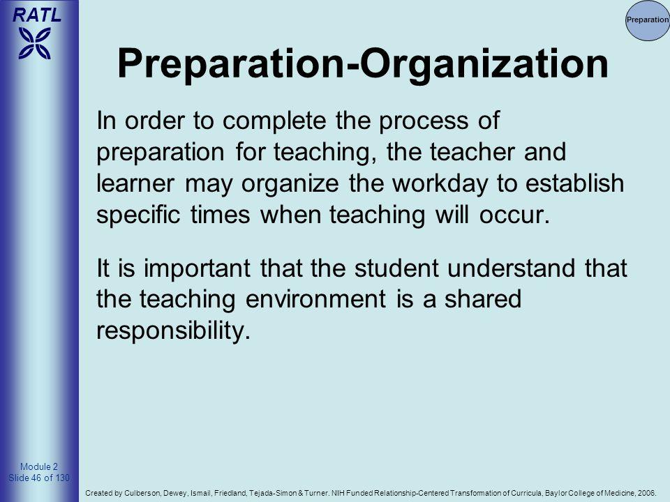 Preparation-Organization
