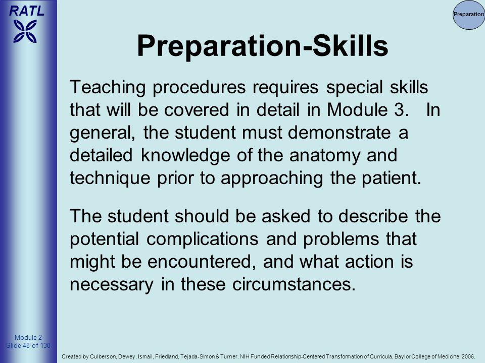 Preparation Preparation-Skills.