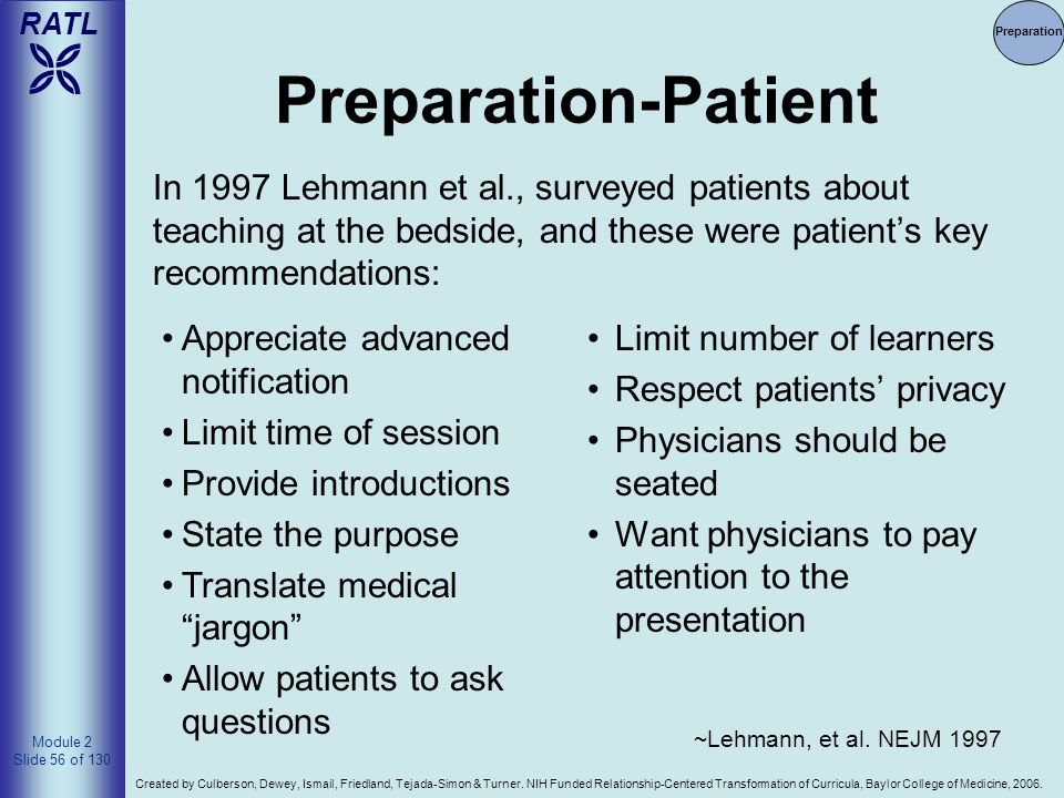 Preparation Preparation-Patient.