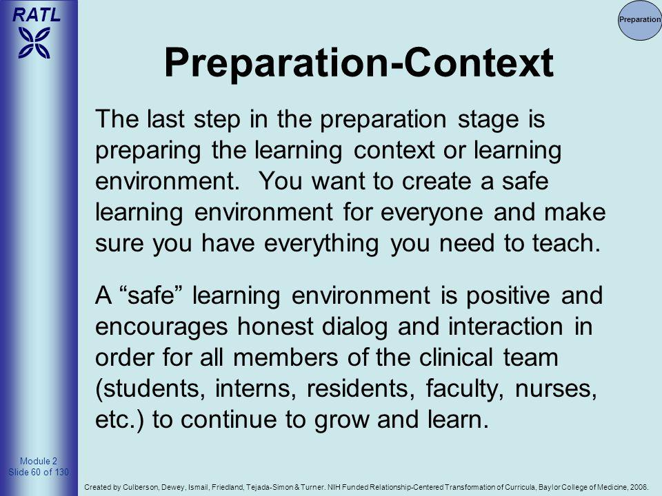 4/14/2017 Preparation. Preparation-Context.