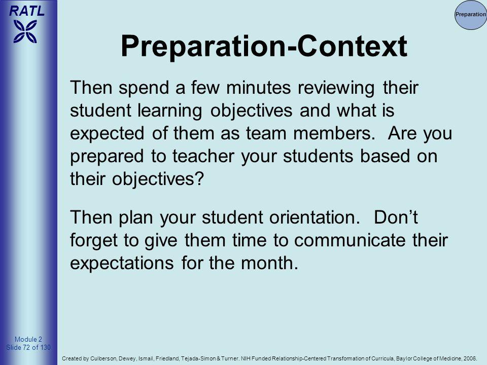 Preparation Preparation-Context.