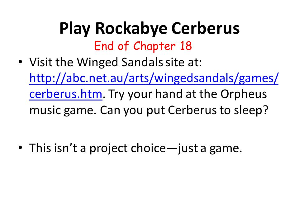 Play Rockabye Cerberus