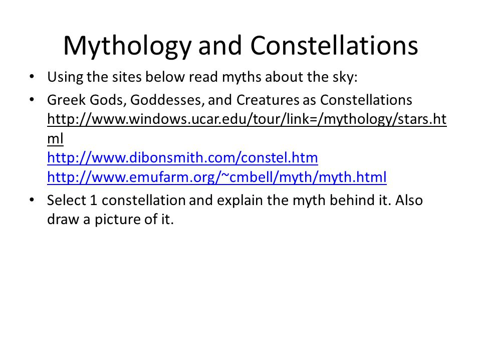 Mythology and Constellations