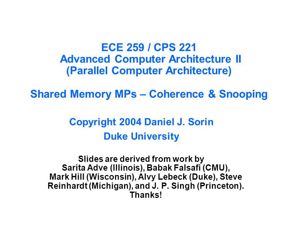 Copyright 2004 Daniel J. Sorin