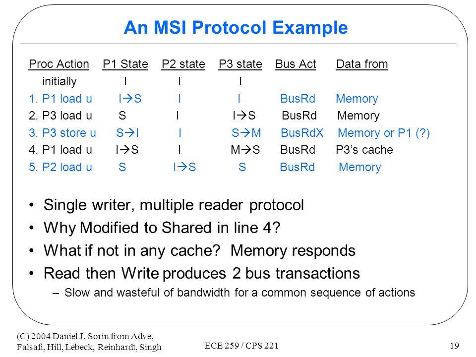 An MSI Protocol Example